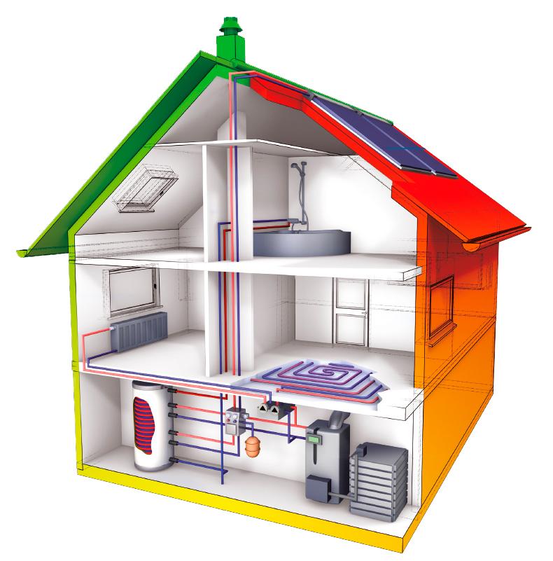 Systemdarstellung Öl-Brennwerttechnik mit Solarthermie |Quelle: BDH