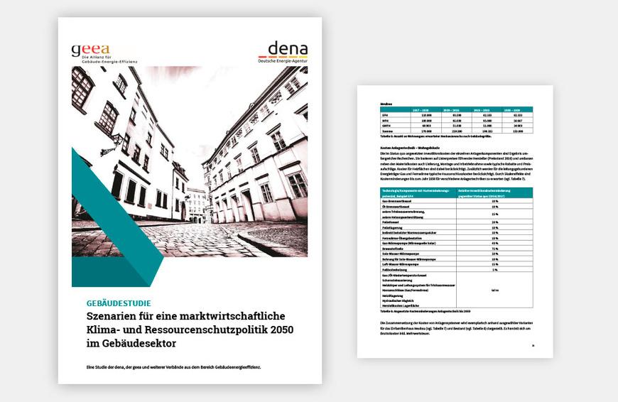 Gebäudestudie von dena und geea