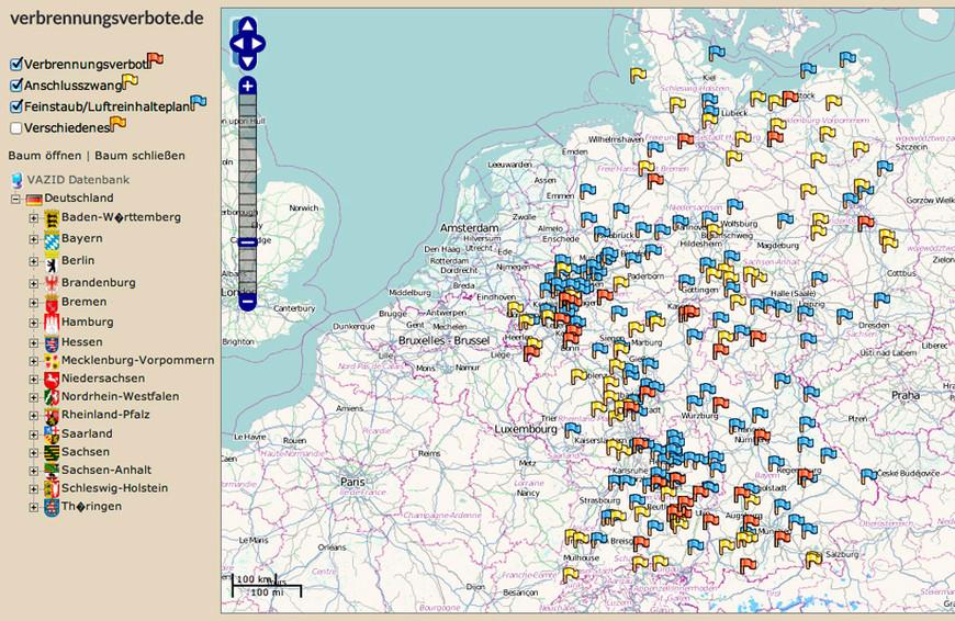 Aktuelle Verbrennungsverbote und Anschlusszwänge in Deutschland