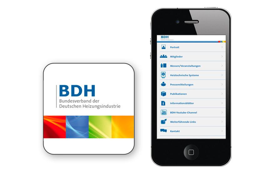 BDH-App bietet Infos rund um Wärmemarkt. Quelle: BDH