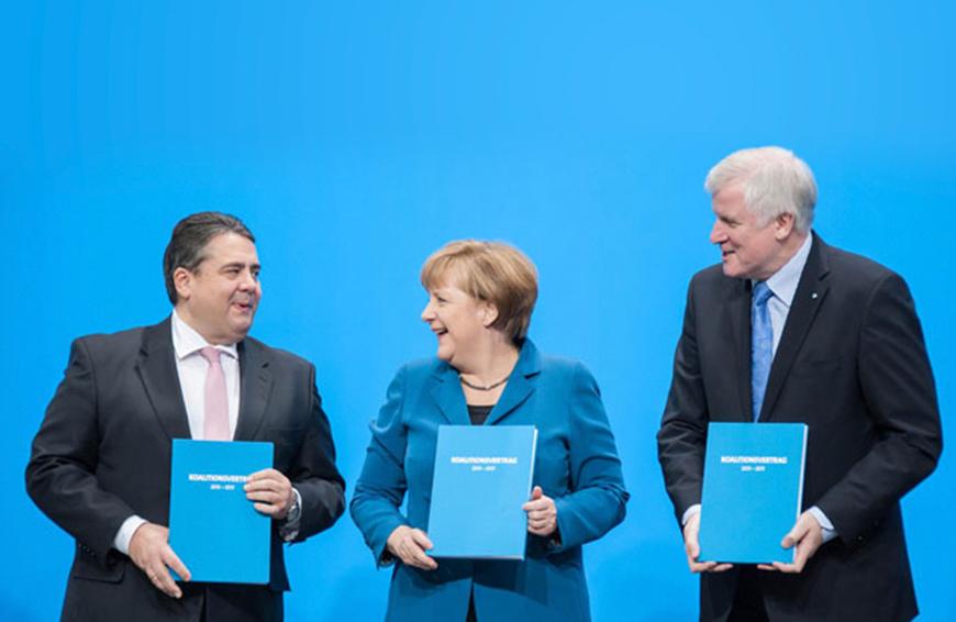 Unterzeichnung Koalitionsvertrag